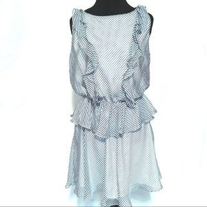 Blue and White Frilly Bebe Summer Dress